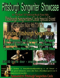 Songwriters Showcase May 9 2014